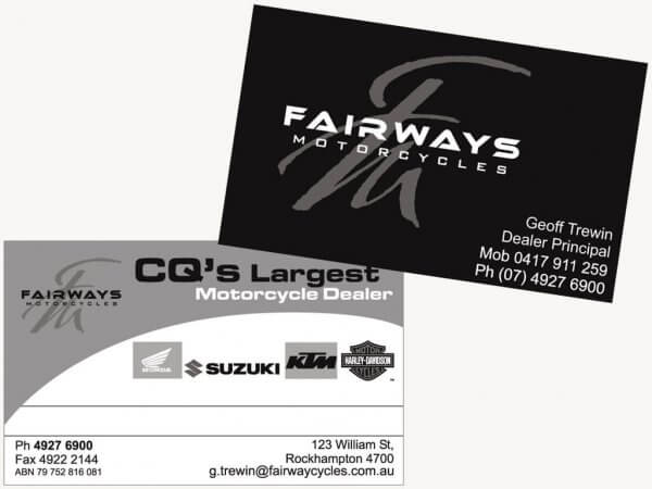 Fairways Business Cards