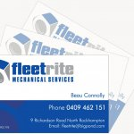 Fleetrite Mechanical Business Cards