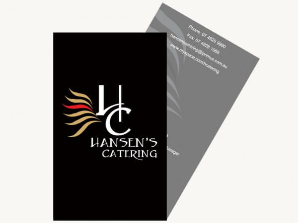 Hansens Catering Business Cards - Almost Anything Web & Graphic Design