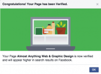Facebook page verification