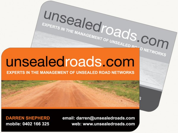 Unsealed Road Cards