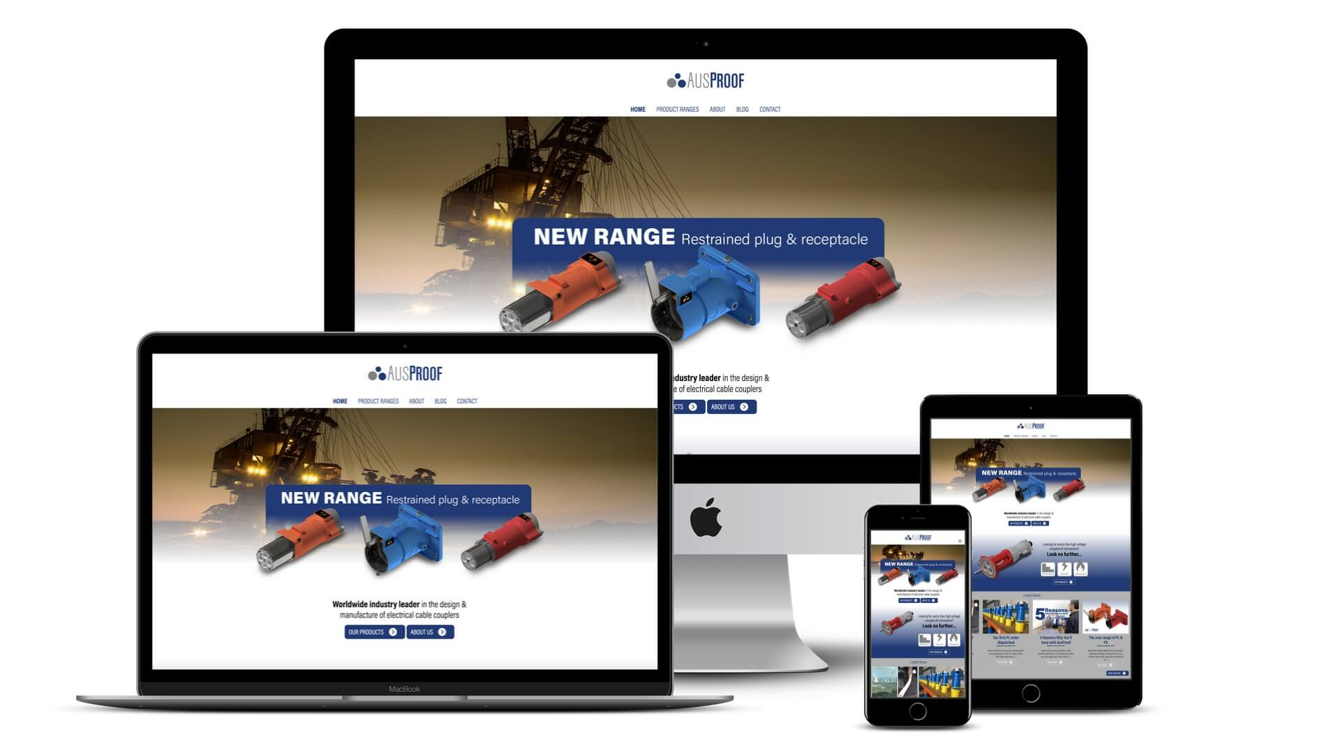 New website - Ausproof - Almost Anything Web & Graphic Design